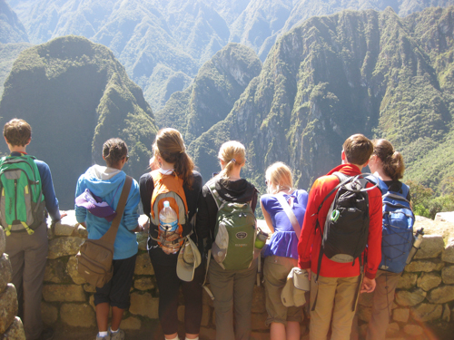 students at Machua Picchu